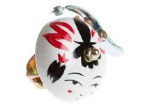 Crane Hand Painted Bell - White