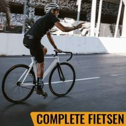 complete fixed gear fiets, cinelli, fixie, fixedgear, baanfiets
